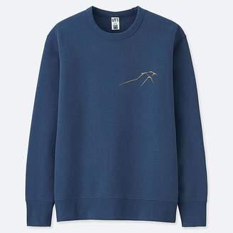 Uniqlo Hokusai Blue Graphic Sweatshirt