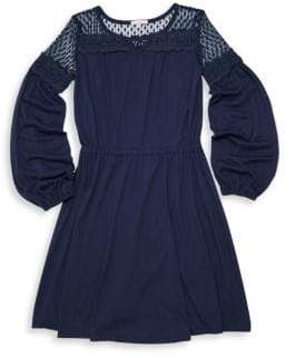 Ella Moss Girl's Mesh Embroidery Dress