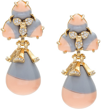 Lele Sadoughi Plated Howlite & Crystal Striped Orchid Drop Earrings