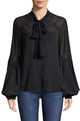 7 For All Mankind Bow Tie Blouse