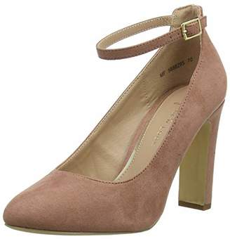 New Look Women's Wide Foot Rosa Closed Toe Heels (Light Pink 70), (40 EU)