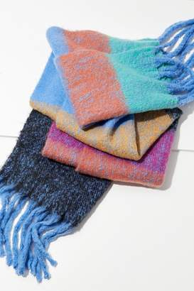 Urban Outfitters Cozy Nubby Striped Oblong Scarf