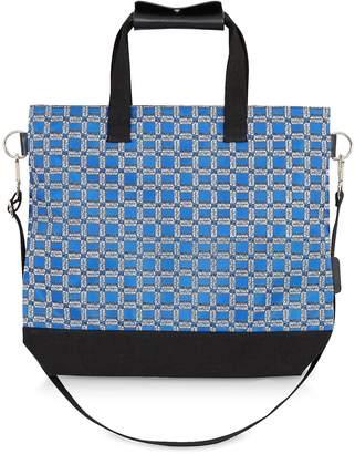 MAISON KITSUNÉ All Over Rectangle Printed Nylon Tote Bag