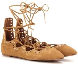 Isabel Marant Leo embellished suede ballerinas