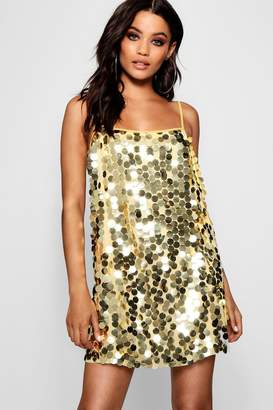 boohoo Sequin Square Neck Slip Dress