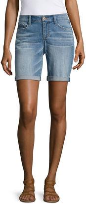 ARIZONA Arizona Skinny Fit Denim Bermuda Shorts-Juniors $40 thestylecure.com