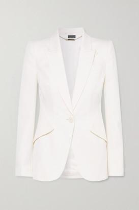 Alexander McQueen Grain De Poudre Wool Blazer - White