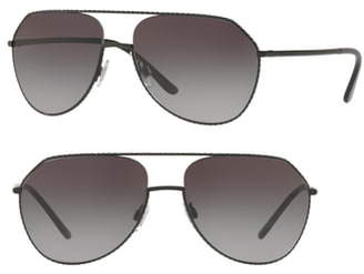 Dolce & Gabbana 59mm Gradient Pilot Sunglasses