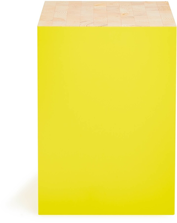 Universo Positivo Universo Positivo Cube Stool Yellow