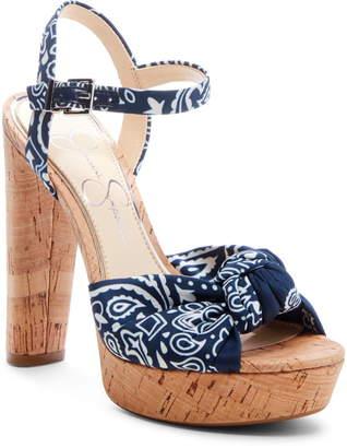 998d7898fa3 Jessica Simpson Ivrey Knot Platform Sandal