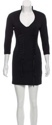 Robert Rodriguez Lace-Up Mini Dress