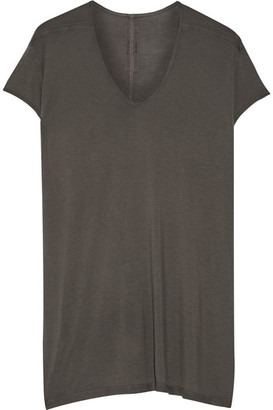 Rick Owens - Oversized Jersey T-shirt - Anthracite $360 thestylecure.com
