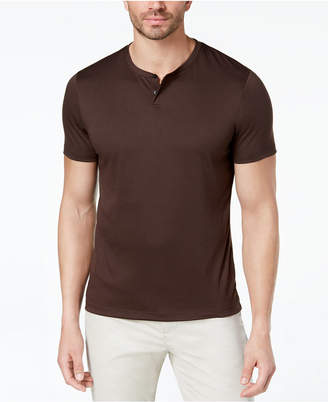 Alfani Men's Soft Touch Stretch Henley, Created for Macy's