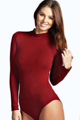 boohoo High Neck Long Sleeve Bodysuit