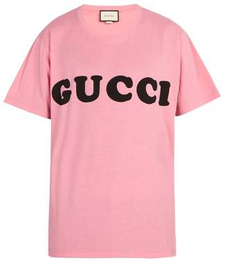 Gucci Logo Cotton T Shirt - Mens - Pink