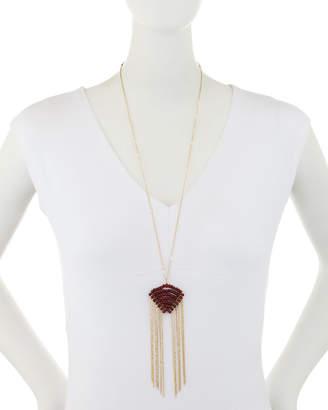 Panacea Crystal & Fringe Pendant Necklace