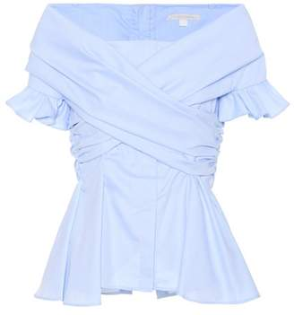 Jonathan Simkhai Off-the-shoulder cotton-blend top