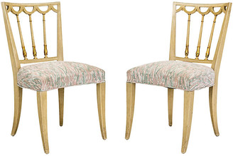 One Kings Lane Vintage Italian Neoclassical Side Chairs - Set of 2 - Janney's Collection