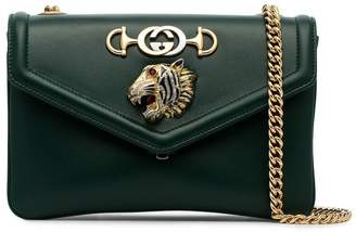 Gucci green Tiger leather cross-body bag
