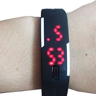 Christian Louboutin (クリスチャン ルブタン) - caleen6レディースメンズブラックプラスチックLED腕時計キャンディカラー安い価格