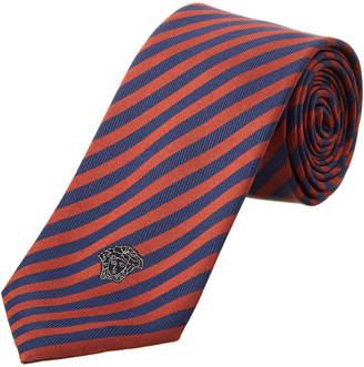Versace Red & Black Silk Tie
