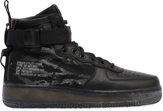 Sf Af1 Mid Tiger Stripe Camo Sneakers $206 thestylecure.com