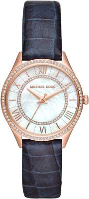 Michael Kors Lauryn Leather Strap Watch, 33mm
