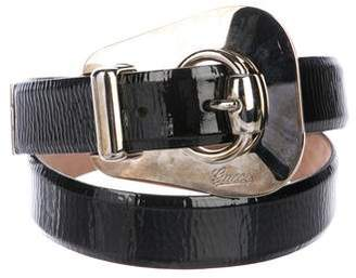 Gucci Patent Leather Buckle Belt