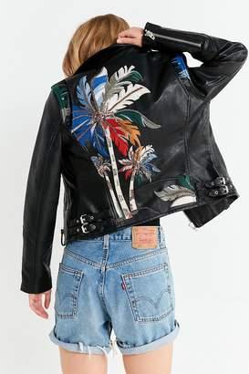 Blank NYC BLANKNYC Island Embroidered Moto Jacket