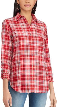 Chaps Women's Print Relaxed Shirt