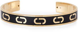 Marc Jacobs Gold-Tone & Black Double J Cuff Bracelet