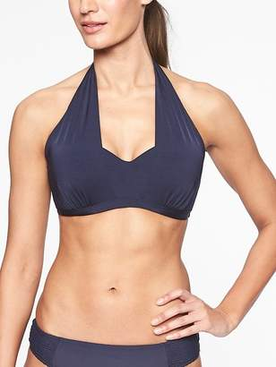 Athleta Aqualuxe Molded Bra Cup 2 Way Bikini Top