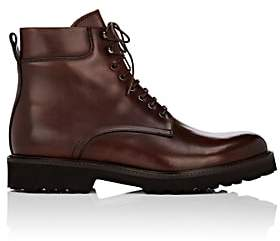 Barneys New York Men's Lug-Sole Leather Boots - Brown