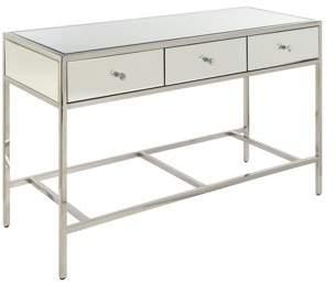 Acme Weigela Rectangular Sofa Table in Mirrored and Chrome