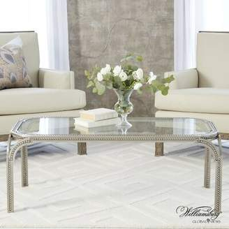 Global Views Forged Pearl Coffee Table with Tray Top