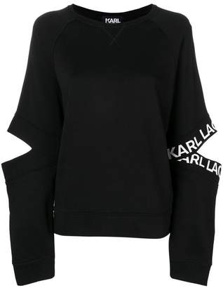 Karl Lagerfeld cut-out sweatshirt