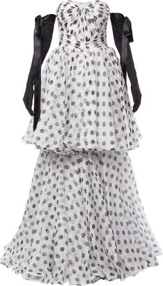 Isabel Sanchis tiered polka dot ball gown