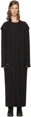 Yohji Yamamoto Black Long Cardigan $2,190 thestylecure.com
