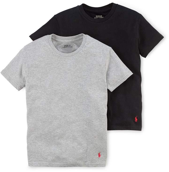 Solid Cotton Crewneck 2-Pack