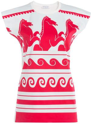Vionnet Wave Print Jersey T Shirt