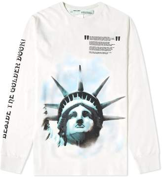 Off-White Off White Long Sleeve Liberty Tee