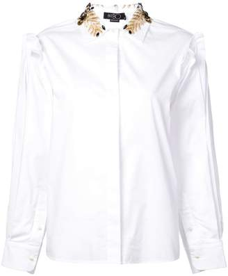 Patbo bead embroidered collar shirt