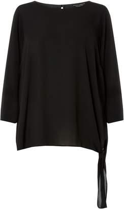 Dorothy Perkins Womens **Dp Curve Black Tie Side Blouse