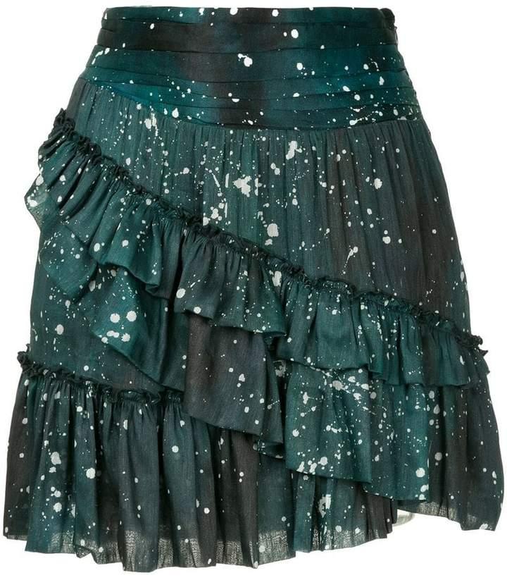 Aje Techado ruffle mini skirt