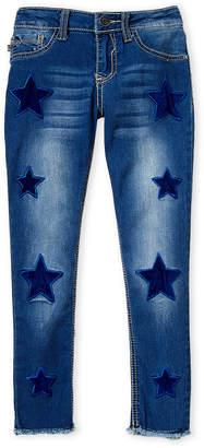 Vigoss Girls 7-16) Velvet Star Patch Skinny Jeans