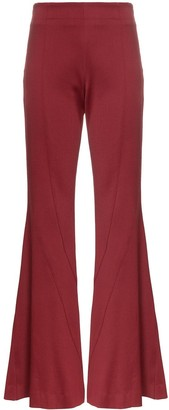 Thierry Mugler Flared stretch wool trousers