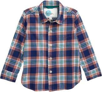 Boden Mini Plaid Button-Up Twill Shirt