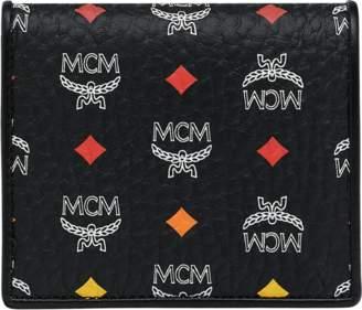 MCM Two Fold Flat Wallet In Skyoptic Visetos