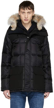 Canada Goose Black Black Label Down and Fur Callaghan Parka