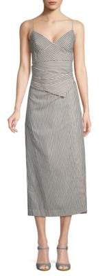 Robert Rodriguez Striped Cotton Slip Dress